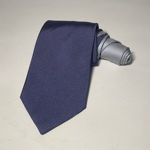 Tommy Hilfiger mens premium navy/silver tie